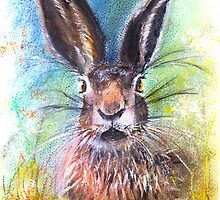 Hare in the Grass by closetpainter
