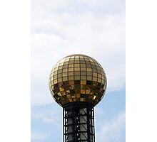 Disco Ball of Gold Photographic Print