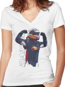 Daniel Ricciardo Women's Fitted V-Neck T-Shirt
