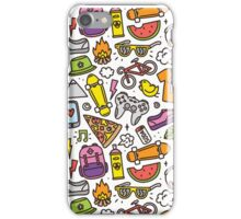 Hipster summer vibes pattern iPhone Case/Skin