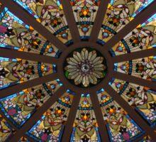 Art Deco glass ceiling in The Empress Hotel Victoria Canada Sticker