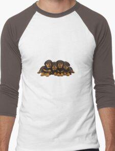 Adorable Rottweiler puppies Men's Baseball ¾ T-Shirt