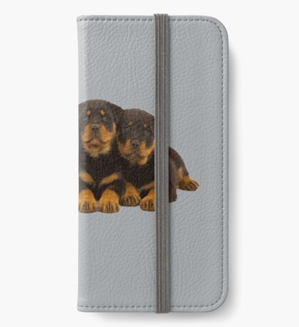 Adorable Rottweiler puppies iPhone Wallet/Case/Skin