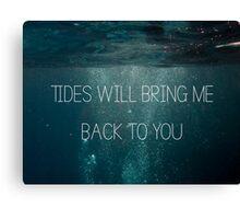 Bring me the Horizon - Deathbeds Lyrics Canvas Print