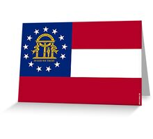 Georgia State Flag  Greeting Card