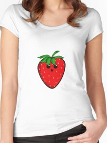 Cute Strawberry Women's Fitted Scoop T-Shirt
