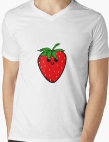 Cute Strawberry Mens V-Neck T-Shirt
