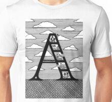 Letter A Architecture Section Alphabet  Unisex T-Shirt