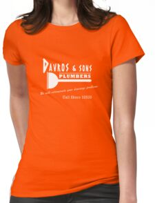 Davros and sons, plumbers... Womens Fitted T-Shirt