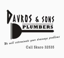 Davros and sons, plumbers... One Piece - Short Sleeve