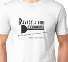 Davros and sons, plumbers... Unisex T-Shirt