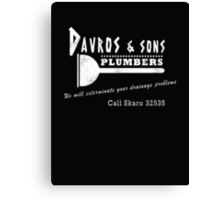 Davros and sons, plumbers... (aged) Canvas Print