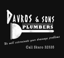 Davros and sons, plumbers... (aged) Baby Tee