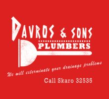 Davros and sons, plumbers... (aged) Kids Clothes