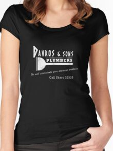 Davros and sons, plumbers... (aged) Women's Fitted Scoop T-Shirt