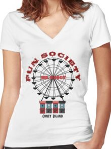 Fun Society Women's Fitted V-Neck T-Shirt