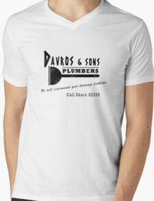 Davros and sons, plumbers... (aged) Mens V-Neck T-Shirt