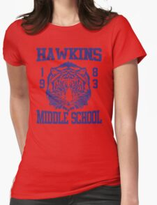 Stranger Things Hawkins MS Womens Fitted T-Shirt