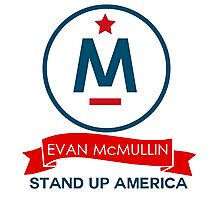 Evan McMullin -  Stand up America! Photographic Print