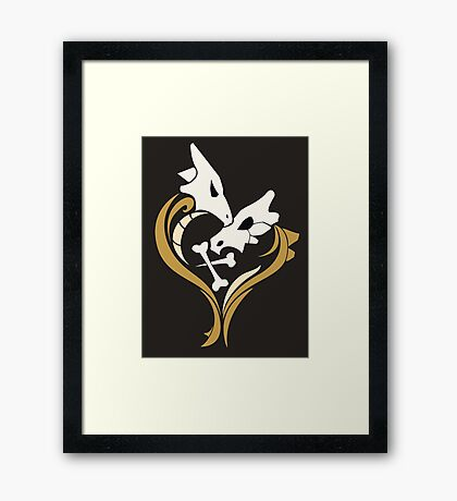 Lone Hearted ~ Cubone and Marowak  Framed Print