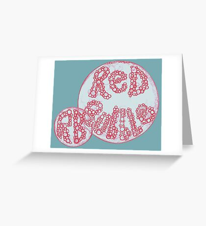 Red Bubble Bubbles Greeting Card