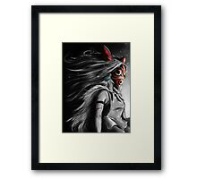 Mononoke Wolf Anime Tra Digital Painting Framed Print