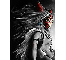 Mononoke Wolf Anime Tra Digital Painting Photographic Print