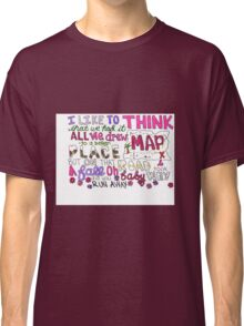 Maps by Maroon 5 Lyric Art Classic T-Shirt