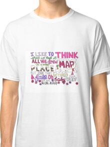 Maps by Maroon 5 Lyric Art Classic T-Shirt