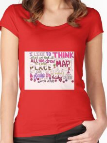 Maps by Maroon 5 Lyric Art Women's Fitted Scoop T-Shirt