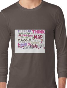 Maps by Maroon 5 Lyric Art Long Sleeve T-Shirt