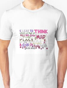 Maps by Maroon 5 Lyric Art Unisex T-Shirt