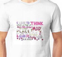 Maps by Maroon 5 Lyric Art Unisex T-Shirt