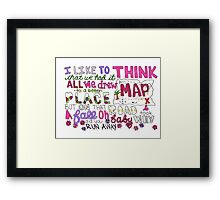 Maps by Maroon 5 Lyric Art Framed Print