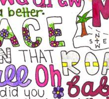 Maps by Maroon 5 Lyric Art Sticker