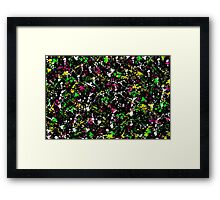 paint drop design - abstract spray paint drops 1 Framed Print