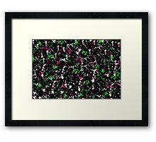 paint drop design - abstract spray paint drops 2 Framed Print