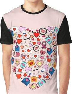 Love heart doodle Graphic T-Shirt