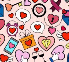 Love heart doodle Sticker