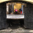 Courtyard Conversation by AJM Photography
