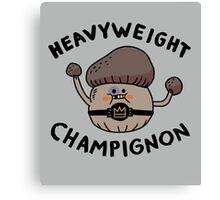 Heavyweight Champignon Canvas Print