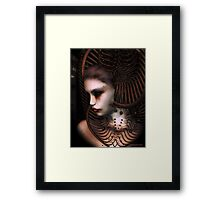 Portrait of a Sci-Fi Woman Framed Print