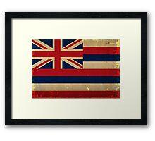 Hawaii State Flag VINTAGE Framed Print