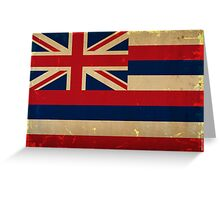Hawaii State Flag VINTAGE Greeting Card