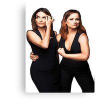 Tina Fey and Amy Poehler  Canvas Print
