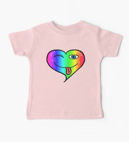 Cute, Cheeky and Playful at Heart Rainbow Baby Tee