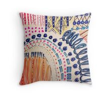 Shakti Abstract Hand Painted Design Throw Pillow