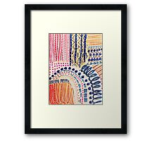 Shakti Abstract Hand Painted Design Framed Print