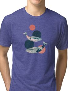 Whale and Polka Dots Tri-blend T-Shirt