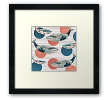 Whale and Polka Dots Framed Print
